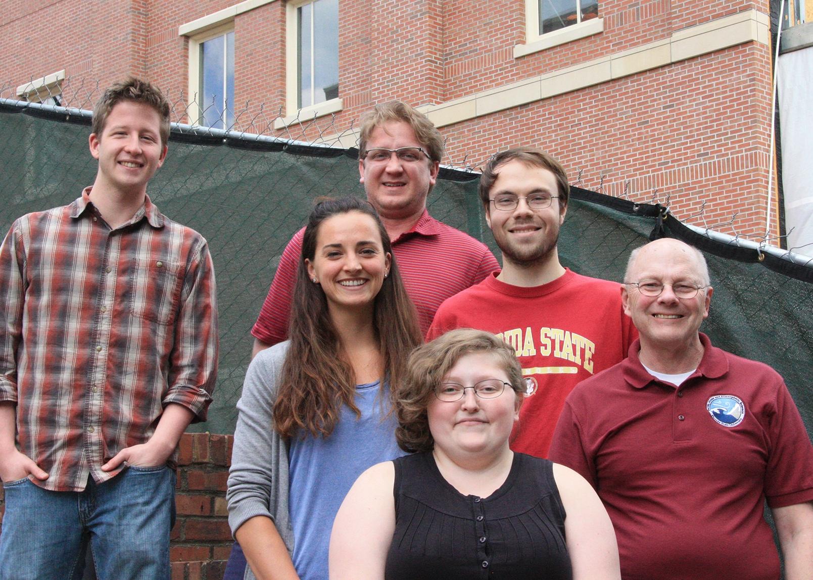 Front: Chesnea Skeen - Middle: Amanda Sava, Will Curtis, Henry Fuelberg - Back: Thomas Gard, Charlie Bowen
